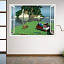 Vánoce Komiks Romantika Módní Prázdninový Krajina Tvary Lidé 3D Samolepky na zeď 3D samolepky na zeď Ozdobné samolepky na zeď Materiál