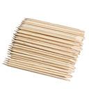 100ks nail art designu oranžové dřevo hůl kůžičky posunovač odstraňovač manikúra péče