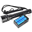 LED svítilny LED 2 Režim 6000 Lumenů Voděodolný / Dobíjecí / Odolný proti nárazům / Strike Bezel / Taktický / Nouzová situace / sebeobrana