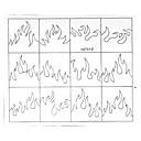 24PCS異なるサイズ専門の意思パターンネイルアートツール#12