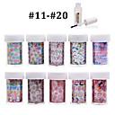 Cvijet - 3D Nail Naljepnice - za Prst / nožni prst - 4cmX100cm each piece - 10pcs nail foils + 1pcs nail foil glue kom. - Other