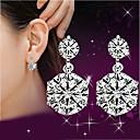 Viseće naušnice imitacija Diamond Slatka Style luksuzni nakit Plastika Kristal Umjetno drago kamenje Pink Jewelry ZaVjenčanje Party