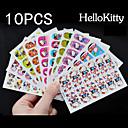 10x12pcs Hello Kitty plný nehty samolepky smíchán s viskozitou 9x6cm