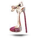 韓国の結婚式のダイヤモンドのブローチはハイヒールの靴を弓