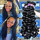 6a neprerađeni Malezijski djevica kose labav val 4pcs Malezijski labav val ljudske kose tkati proširenja cara proizvode za kosu