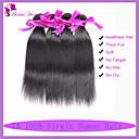 Peruánské panna vlasy rovné lidské vlasy tkát Přírodní černý 3ks hodně peruánský rovné svazky vlasy