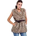 kožešina vesta bez rukávů límce v umělé kožešiny strana / ležérní vesty