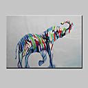 Ručně malované Abstraktní / Zvíře / PrázdninovýModerní Jeden panel Plátno Hang-malované olejomalba For Home dekorace