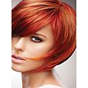 最新製品閃ショートストレートヘアsyntheicかつら最高の品質