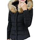TS Standardní Běžné nošení / Velké velikosti Umělá kožešina / Polyester Dlouhý kabát Dlouhý rukáv
