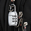 トラベル かばん用南京錠 / 膨張式マット バッグ用小物 コード化されたロック ステンレス