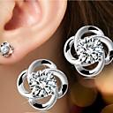 Naušnica Flower Shape Sitne naušnice Jewelry 1pc Birthstones Vjenčanje / Party / Dnevno / Kauzalni / Sport Plastika Žene Srebrna