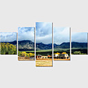 風景画 / 現代風 キャンバスプリント 5枚 ハングアップする準備ができました , 横式