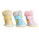 犬用品 シューズ、ブーツ ファッション ブルー / ピンク / イエロー 冬 PUレザー犬 靴