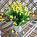 ホームデコレーション1個/セットのための高品質のオランダカイウユリの花シルクフラワーシルクフラワー造花