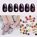 Lijep-Ostale dekoracije- za Prst / nožni prst-4mm-Metal-100pcs metal edage nail pearls
