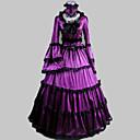Jednodílné/Šaty Klasická a tradiční lolita Retro Cosplay Lolita šaty Fialová Retro Dlouhé rukávy Long Length Šaty / Límeček Pro Dámské