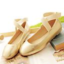 Ženske cipele-Ravne cipele-Ležerne prilike-Umjetna koža-Ravna potpetica-Uglate cipele-Crna / Ružičasta / Srebrna / Zlatna