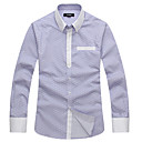 Le Smart Muškarci Kragna košulje Dugi rukav Shirt & Bluza Siva - SL13614