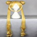 Nový stylový blonde cosplay paruka ženy umělých vlasů paruky dlouhé vlnité animované paruky stran paruky