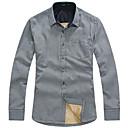 Le Smart Muškarci Kragna košulje Dugi rukav Shirt & Bluza Crna Fade / Srebrna / Bež / Svijetlo zelena - SX13124