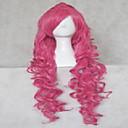 fashion cosplay paruka růžová umělých vlasů ženy dlouhými vlnitými animovaný paruky karikatura paruky plné paruku