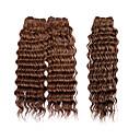3pcs / puno 113g / kom, 7a # 30 100% djevičansko Brazilski ljudske kose plete snopove kose potke, novi duboko val, šareni
