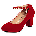 Women's Shoes Leatherette Chunky Heel Heels Heels Office & Career / Dress / Casual Black / Red