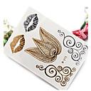 1pc high-end vruće žigosanje željeza srebrne vodootporan metalne tattoo naljepnice