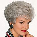 欧州と米国の高品質のファッション高品質の高温人工毛シルクショートヘアのかつら