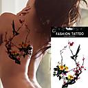 5kom vodootporna boja šljive svraka tetovaža uzorak privremeno tijelo umjetnosti lažni tetovaža naljepnica