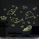 Životinje / Crtani film / Mrtva priroda / Moda / Slobodno vrijeme Zid Naljepnice Svjetleće zidne naljepnice,PVC 70*50*0.1