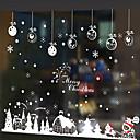 samolepky na zeď lepicí obrazy na stěnu ve stylu vánoční kabina ve zdi samolepky sníh PVC