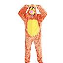 Kigurumi Pidžame Tigar Hula-hopke/Onesie Halloween Zivotinja Odjeća Za Apavanje žuta Životinjski uzorak / Kolaž Flis Kigurumi Uniseks