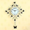 ノベルティ柄 コンテンポラリー 壁時計,フローラル / 抽象風 / 結婚式 / 家族 / 友達 クリスタル / ガラス / メタル 83cm x 61cm ( 33in x 24in )