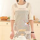 100% bavlna zástěry kuchyň vaření s pruhovaným styl 2 barev (červená modrá)
