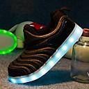 女性 男の子用 女の子用-ウェディング アウトドア ドレスシューズ カジュアル アスレチック パーティー-レザーレットファッションブーツ 靴を点灯 コンフォートシューズ-スニーカー-ブラック ブルー レッド