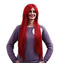 Nový cosplay dlouhé tmavě červená rovný vysoce kvalitní syntetické paruky