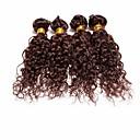 4ks brazilský hluboké lokny svazky vlasy spřádá čokoládově hnědá 100% nezpracovaných brazilský lidské vlasy útek