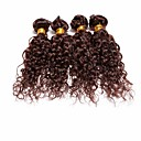 4pcs Brazilski duboke nakovrčati snopovi kosa plete čokolada smeđa 100% neprerađenog Brazilski ljudske kose potke