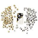 100pcs najbolje cijene postavljene 5mm srebrna i zlatna zvijezda metala Studs manikura na noktima 3D dekoracije