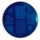 1pcs nail art žigosanje ploča mali okrugli oblik pločica geometrijska slika manikura alata stz41-45