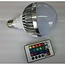 10W E26/E27 LEDボール型電球 G80 1 ハイパワーLED 700-900 lm RGB リモコン操作 AC 85-265 V 1個