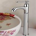 アンティーク調 - 滝状吐水タイプ - 真鍮 (クロム)