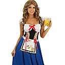 Cosplay Nošnje / Kostim za party Kostimi sluškinje / Oktoberfest Festival/Praznik Halloween kostime Bijela Kolaž Haljina / Pregača