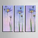 platno Set Cvjetni / Botanički Europska Style,Tri plohe Platno Vertikalno Ispis Art Zid dekor For Početna Dekoracija