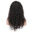 10-28 inča duboko val perika 100% ljudska kosa čipke ispred perika prirodnu crnu boju 130% gustoće