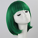 bob žene kratka perika zelene dame sintetička perika žene kratke ravne kose Cosplay perika