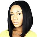 evawigs 10-26 inča kratke ravne perika bob perika 100% ljudska kosa čipke ispred perika prirodnu crnu boju 130% gustoće