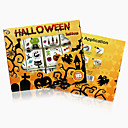 12Pcs/Box Kids Toy Cartoon Halloween Tattoo Sticker Temporary Tattoos Bat Skull Spider Set  Gift for Child